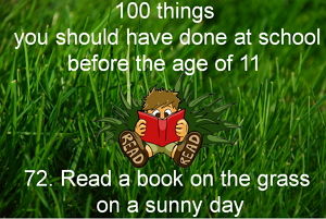 Read a book on the grass