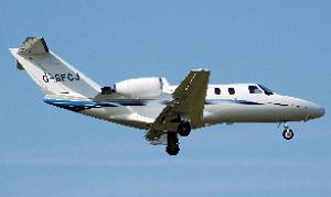 Cessna 525 CitationJet (G-SFCJ) released into the public domain by Arpingstone at https://commons.wikimedia.org/wiki/File:Cessna